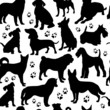 Dogs seamless pattern