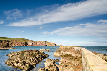 Approach to St Abbs harbour