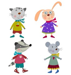 Pets. Cartoon characters