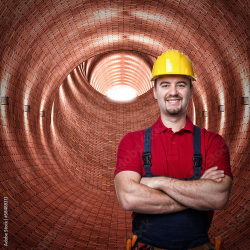 worker and tunnel