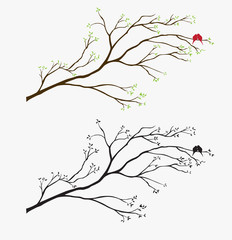 Tree Bird wall decal