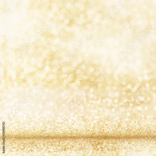 canvas print picture Heller goldener Hintergrund