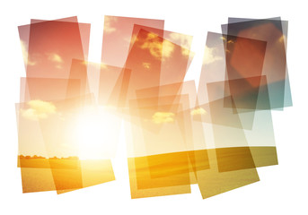 sun landscape collage