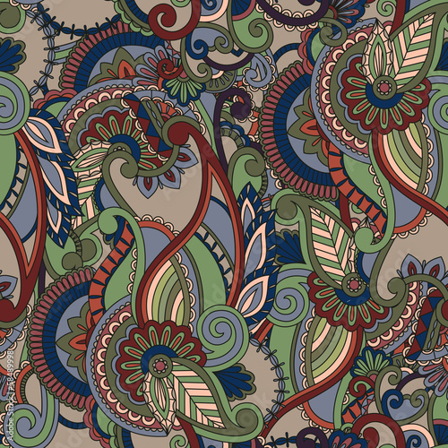 Paisley pattern. Ethnic design. Seamless background