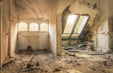 Abandoned Hospital in Beelitz Heilstätten near Berlin in German