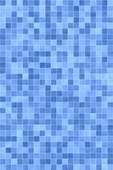Blaue Fließen im Bad