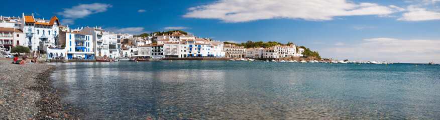 Panoramic view of Cadaques beach and coast