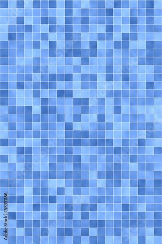 canvas print picture Blaue Fließen im Bad