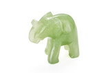 Miniature green jade elephant