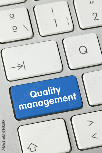 Quality management. keyboard