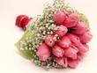 Rosa Tulpenstrauß