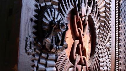 Chinese ornamented wooden door
