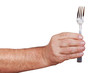 Hand with table fork