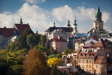 Lublin Old Town in the autumn