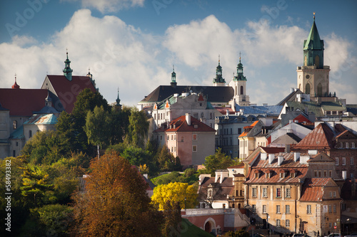 Aluminium Oost Europa Lublin Old Town in the autumn