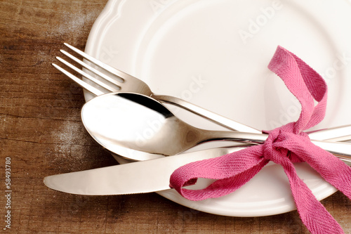 warm table setting