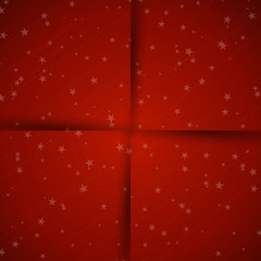 red christmas background with shadows and stars