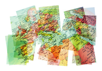 mediterranean map collage