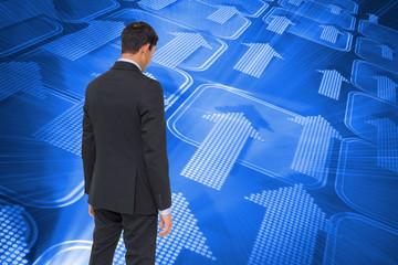 Composite image of asian businessman