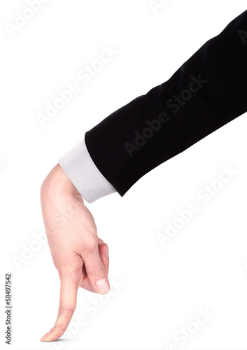 Businessman's  finger pointing or touching