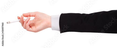 Businessman's hand Holding a Cigarette