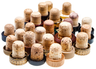 used corks from strong drinks