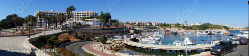 """GPanorama of the beach and the port Cyprus"