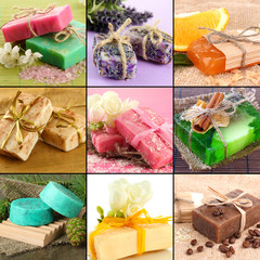 Natural soaps collage