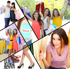 Shopping collage