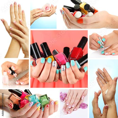 Fototapeten,schön,frau,manicure,zubehör