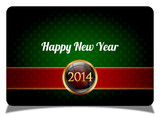 Green new year celebrate card