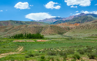 Multi-colored mountains of Tien Shan
