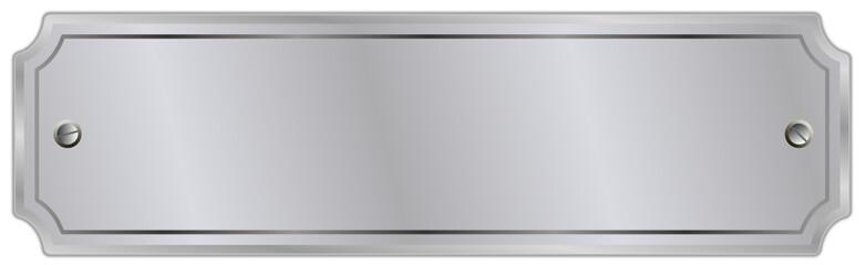 Schild Tafel silber glanz  #131118-svg02