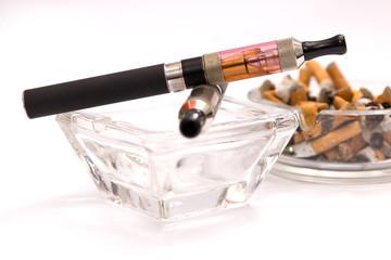 Konzept E-Zigarette angenehmer als Zigaretten
