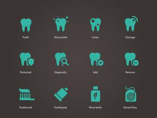 Teeth icons.