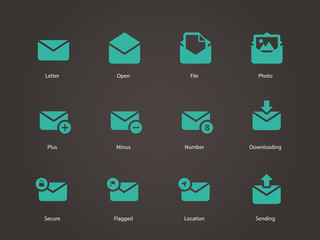 Envelope icons.