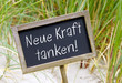 canvas print picture - Neue Kraft tanken !