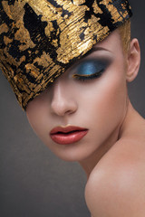 Gold fashion beauty girl