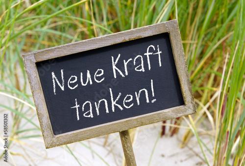 canvas print picture Neue Kraft tanken !