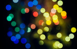 cityscape at night, xmas bokeh
