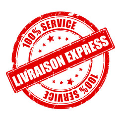 tampon livraison express - rouge