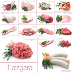 Collage Metzgerei