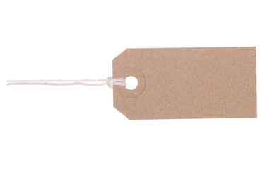 Brown gift tag label