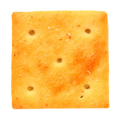 Delicious cracker isolated on white