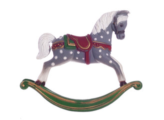 Vintage rocking horse christmas decoration