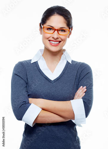 Beautiful smiling business woman.
