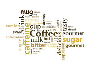 Ilustração abstrata relacionada com café