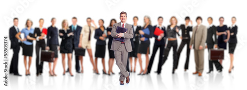 Businessman and Business people group.