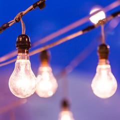 light bulb at dusk