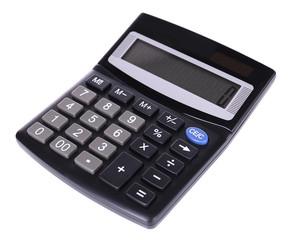 Digital calculator isolated on white